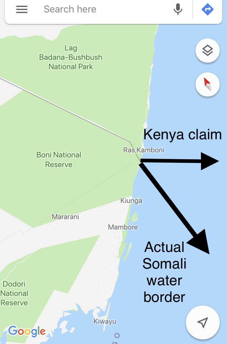 الحكومه الكينية  تستدعي سفيرها من الصومال و تطرد السفير الصومالي محمد ترسن  اعتراضا على عرض الصومال لثروتها النفطيه البحرية في معرض لندن للنفط والغاز الصومالي،علما بأن المنطقة التي تعترض كينيا على عرضها هي داخل الحدود البحرية الصوماليه #hands_off_somalia