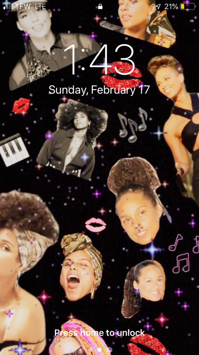 In love with my new @aliciakeys home screen #GrammyAwards2019 <br>http://pic.twitter.com/52O1590v6D