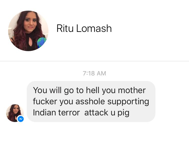 My inbox is being hit by a deluge of abuse and threats from India's Muslim hating Hindu extremists today.  Here's but a small sample. Make them famous!