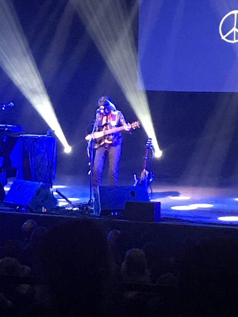 """Just saw @BuffySteMarie sing """"Universal Soldier"""" in Montreal. She'll be in our documentary about the week in 1968 when @harrybelafonte hosted """"The Tonight Show"""" and she'll amaze you."""