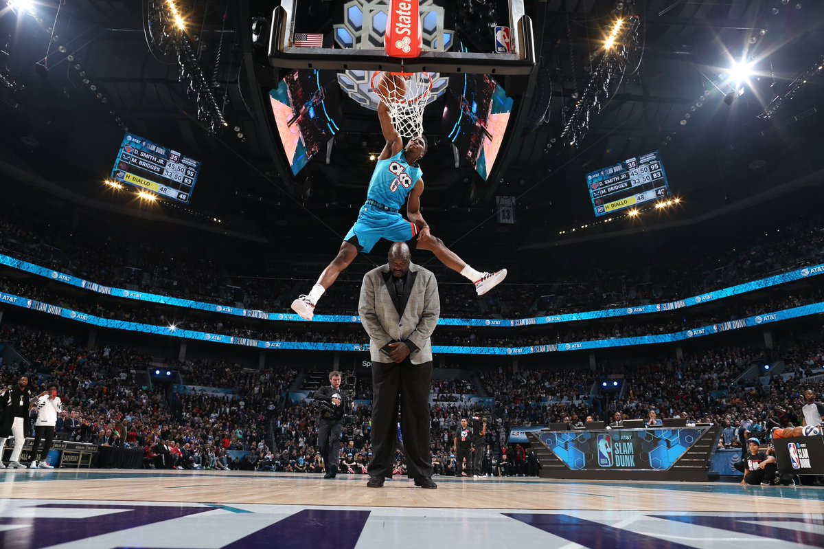 Able to leap tall humans in a single bound. #SlamDunkChamp