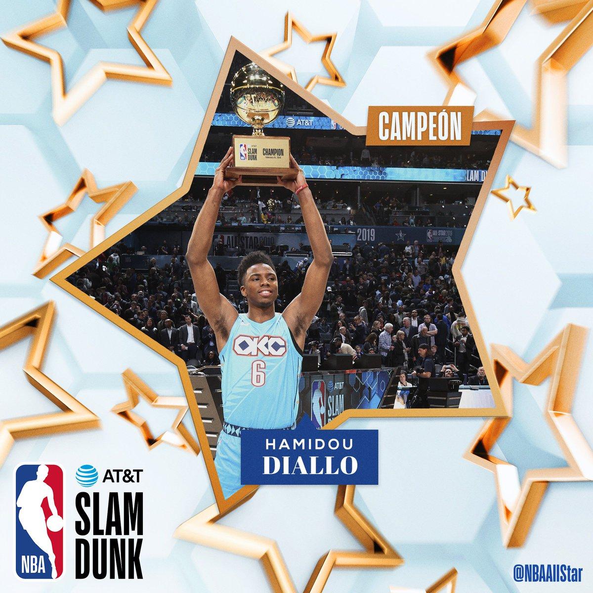 ¡Felicitaciones @hamidoudiallo campeón del concurso de mates!😱🤩 #ATTSlamDunk #NBAAllStar @okcthunder