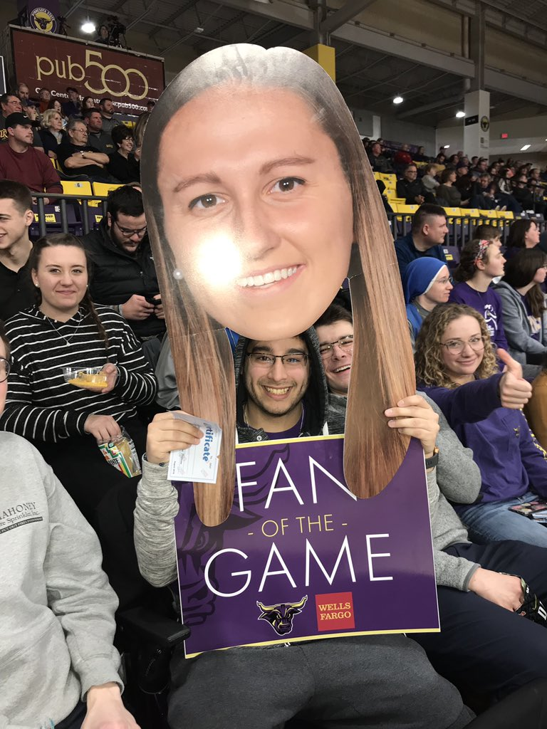 Thank you so much Joseph and Karina for coming out and supporting @MinnStateMBBall @MSUMavericksWBB !! You both were tonight's Wells Fargo Fans of the game! Thank you both for cheering them all the way to victory!! #GoMavs #MavFam