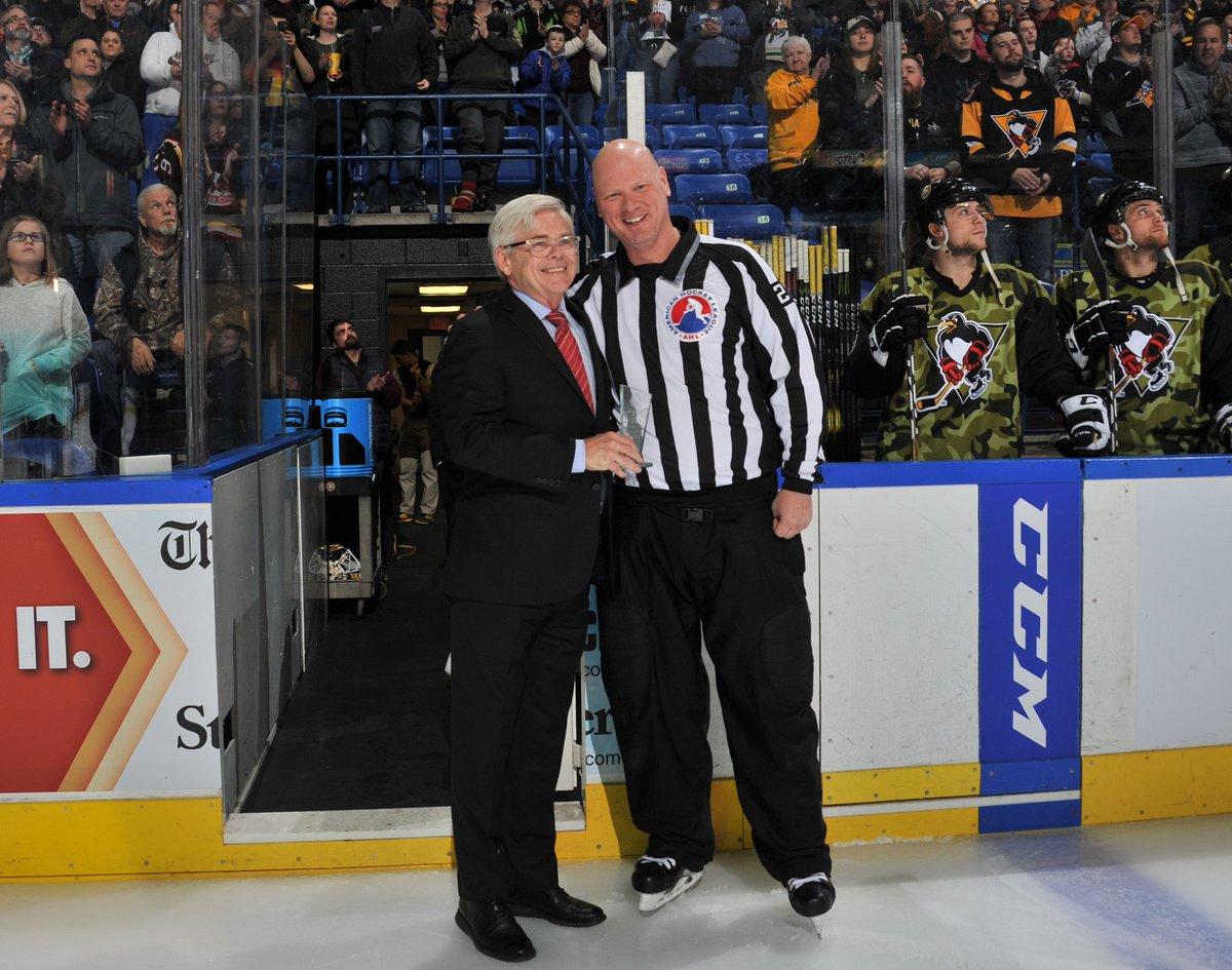 Stick taps to retiring veteran linesman Matt McNulty, who worked his final AHL game last night.