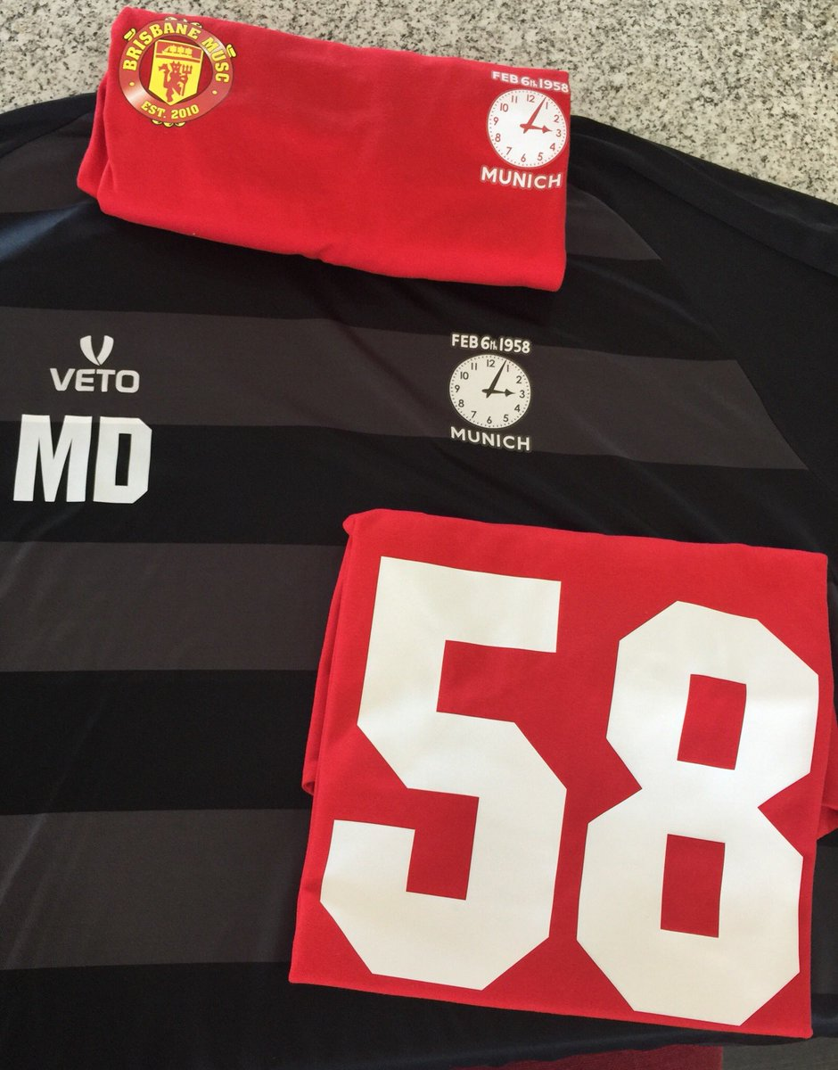 It's all coming together, kits and coaching tops #BusbyBabes #Munich58 #MunichAirDisaster #MUFC #Brisbane – at Eastern Suburbs Soccer Club