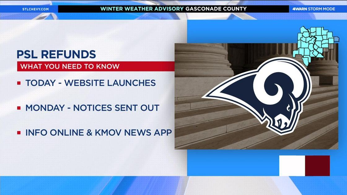Former Rams fans can now get their PSL refunds https://t.co/PxOjgspG7h #KMOV
