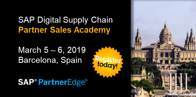 Are you a Sell #SAPPartner? Great opportunity to boost your pipeline and accelerate  2019 business. Sales consultants &amp; managers with a good understanding of SAP Digital Supply Chain processes and solutions are invited to this 2-day FREE onsite workshop.  http:// sap.to/6011ETDeD  &nbsp;  <br>http://pic.twitter.com/f2iIQZT0oQ