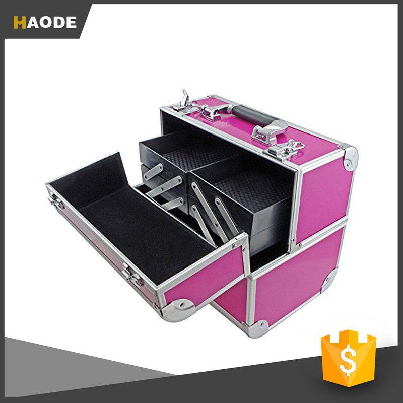 Haodemakeupbag Find Cosmetic Vanity Case With Fold Out Trays Makeup
