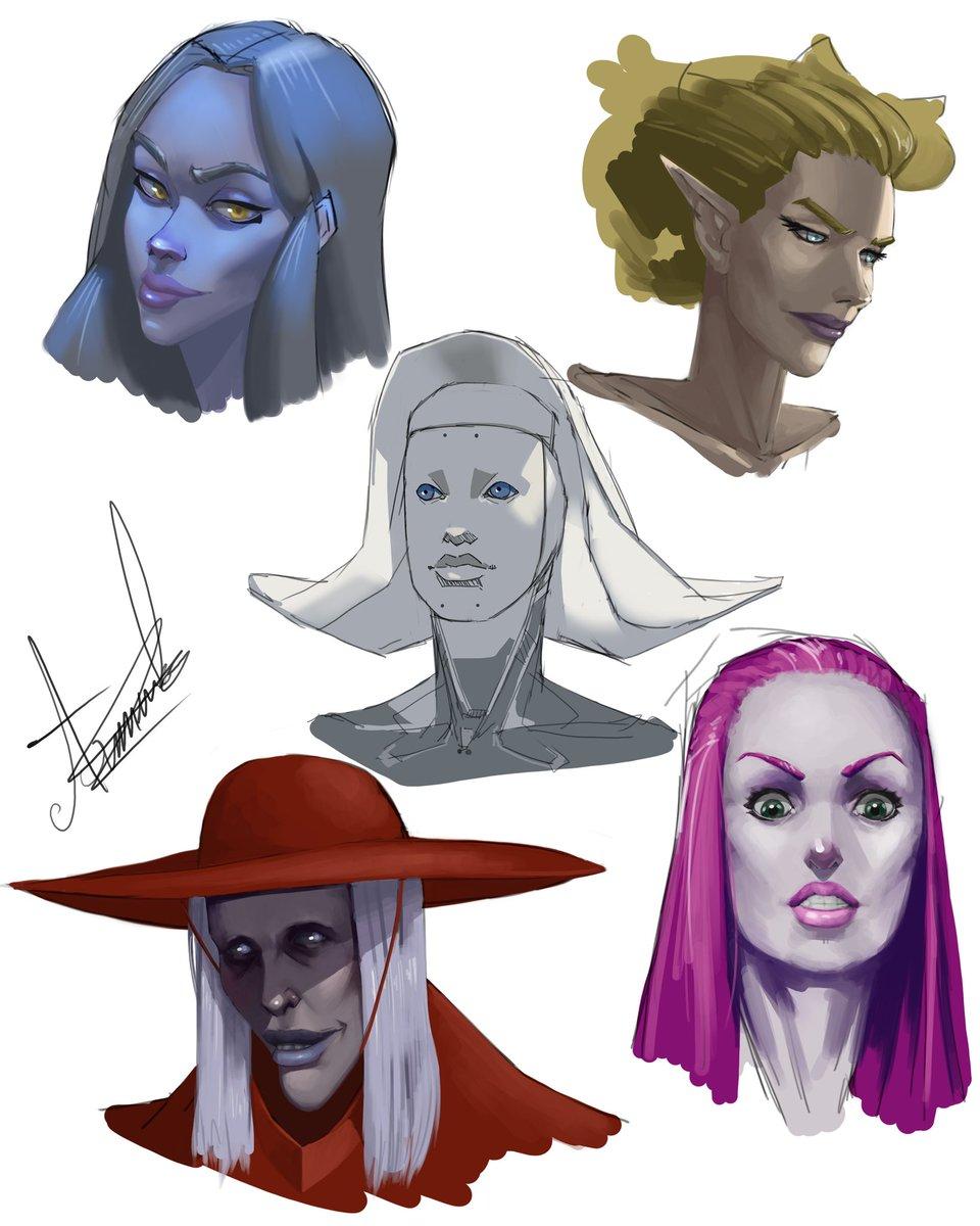 Faces boi.  #conceptart #characterdesign #Overwatch #Widowmaker #horror