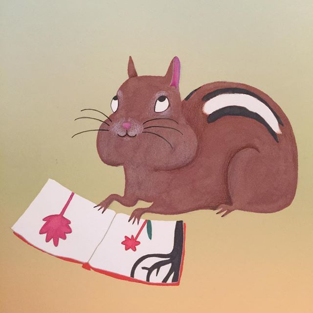 #chipmunk #booklover #illustration #kidlit #kidlitart #kidlitillustration #scbwi #childrensbookillustration #drawing #artistsoninstagram #characterdesign #artforkids http://bit.ly/2SUe9Cq