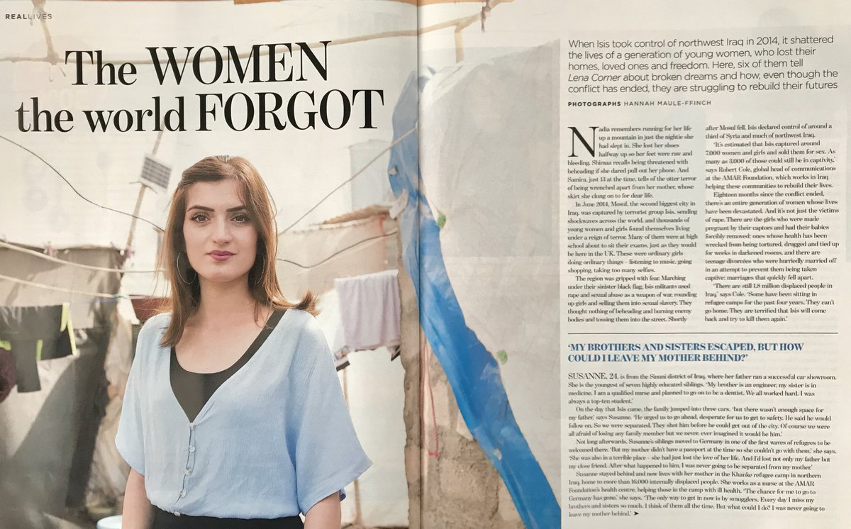 test Twitter Media - Great report in today's @DailyMailUK @MailOnline from the excellent @lenacorner explains how our work is helping #Yazidi women and girls whose lives were almost destroyed by #ISIS.  None of it possible without support from our wonderful UK donors.   https://t.co/RyfhNPBGdh https://t.co/csYiBrRBwL