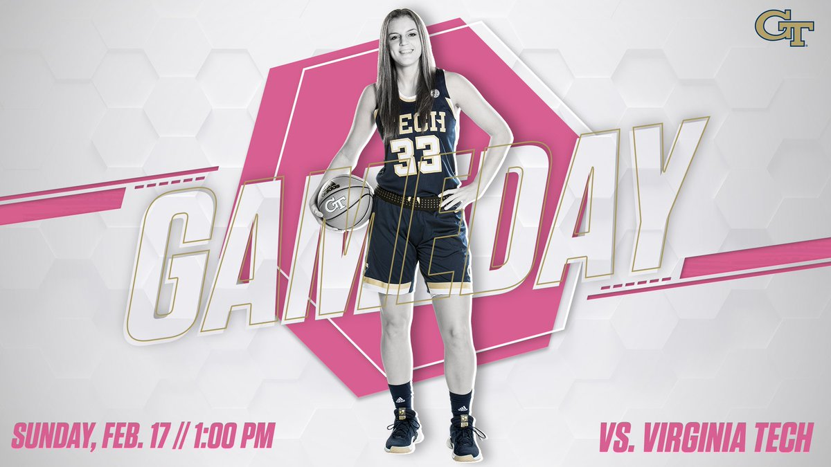 GAMEDAY! The Jackets host Virginia Tech this afternoon at 1 p.m. for its annual #Play4Kay Pink Game. Catch us on @FOXSportsSouth locally. #TogetherWeSwarm