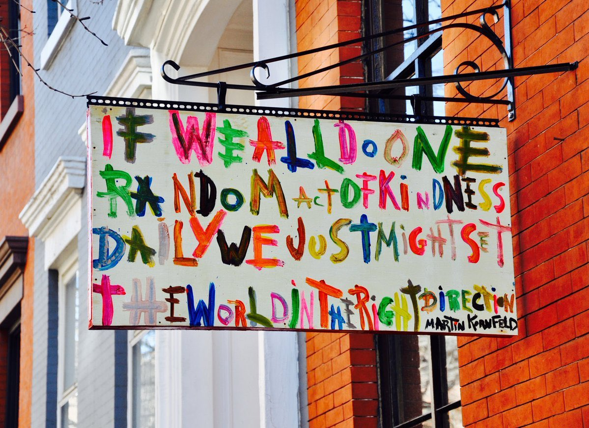 If we all do one random act of kindness daily, we just might set the world in the right direction  #RandomActsOfKindnessDay