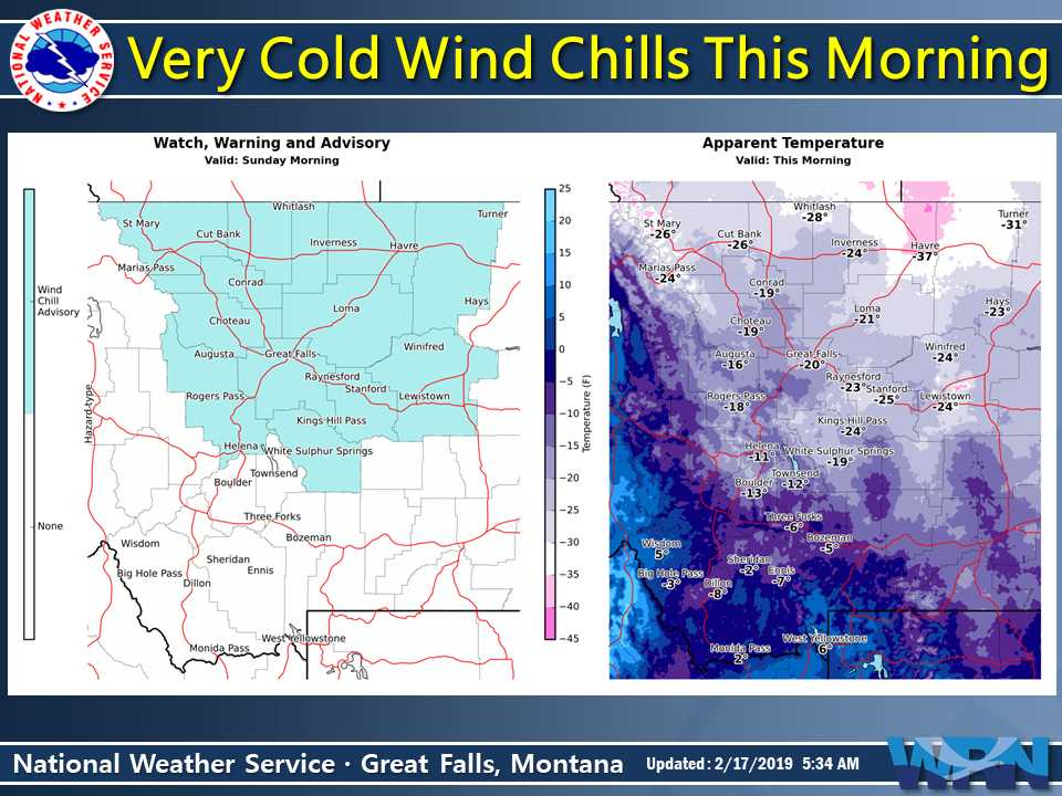 New Weather Graphic Issued: Wind Chills Today. More info at https://t.co/9noRXI71Sk. #mtwx