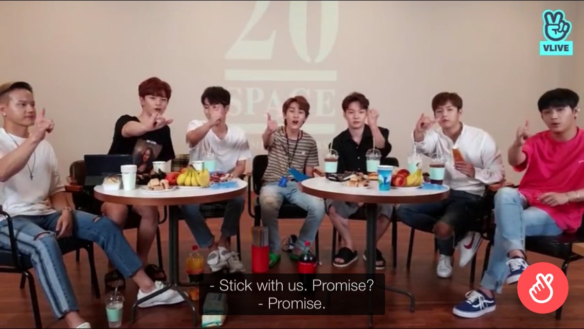 """""""Stick with us. Promise?"""" - BTOB  YES! WITH ALL MY HEART YES!! 💙💙💙"""