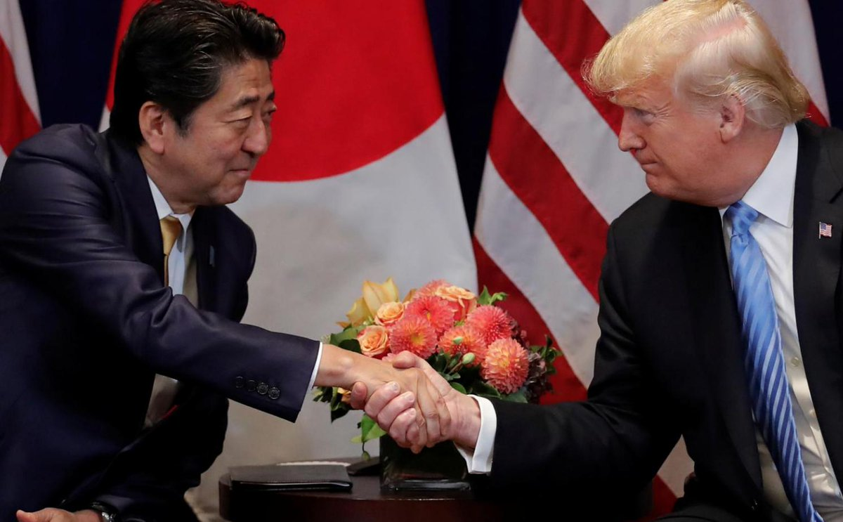 Japan's PM Shinzo Abe nominated Trump for Nobel Peace Prize last year…but only after the U.S. asked him to.  https://t.co/w9MJ8LESSN