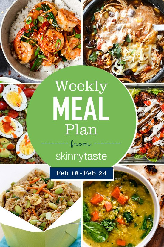 Skinnytaste Meal Plan (February 18-February 24) https://www.skinnytaste.com/skinnytaste-meal-plan-february-18-february-24/ …