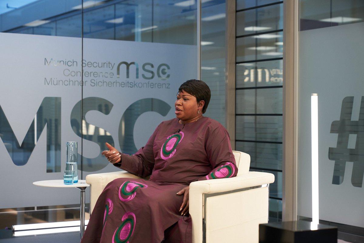 Fatou Bensouda explains what the international criminal court is actually doing: https://youtu.be/3sa0pv-sbnM #yourMSC #MSC2019 @IntlCrimCourt
