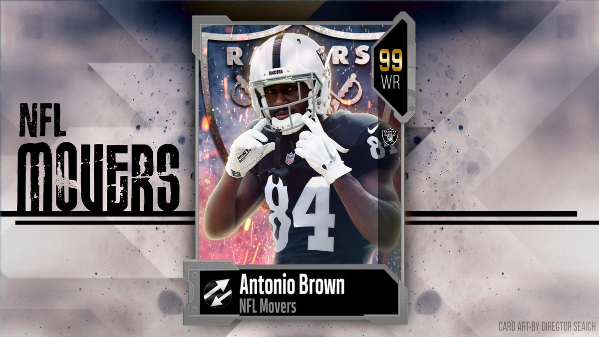 This one is for @Estonian_Raider and all my dirty Raiders bros 👀💀Way too early concept card art, but I gotta feeling about Antonio Brown... We shall see. As a Chargers fan, I hope not 😬 #Madden19 #NFLMovers @AB84 @MUTGuru @BuffaloKaay