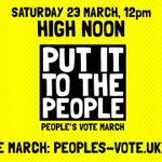 Image for the Tweet beginning: We demand a #PeoplesVote, and
