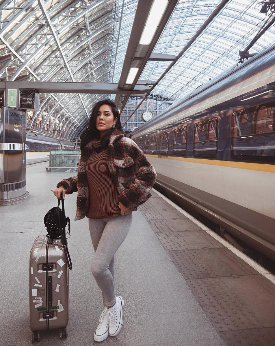 c8ec26dd8d travel in style get s brown checked teddy trucker coat on site now