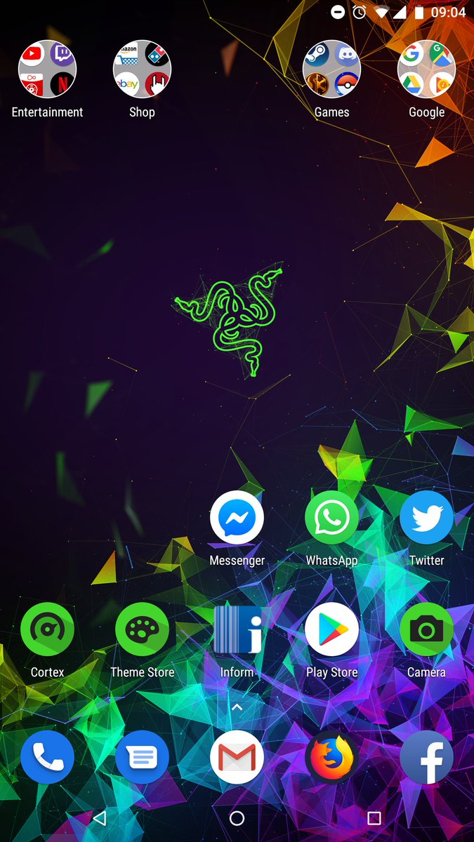 Just got the razer phone 2 haven&#39;t changed it yet lol <br>http://pic.twitter.com/V8tYXEVlmS