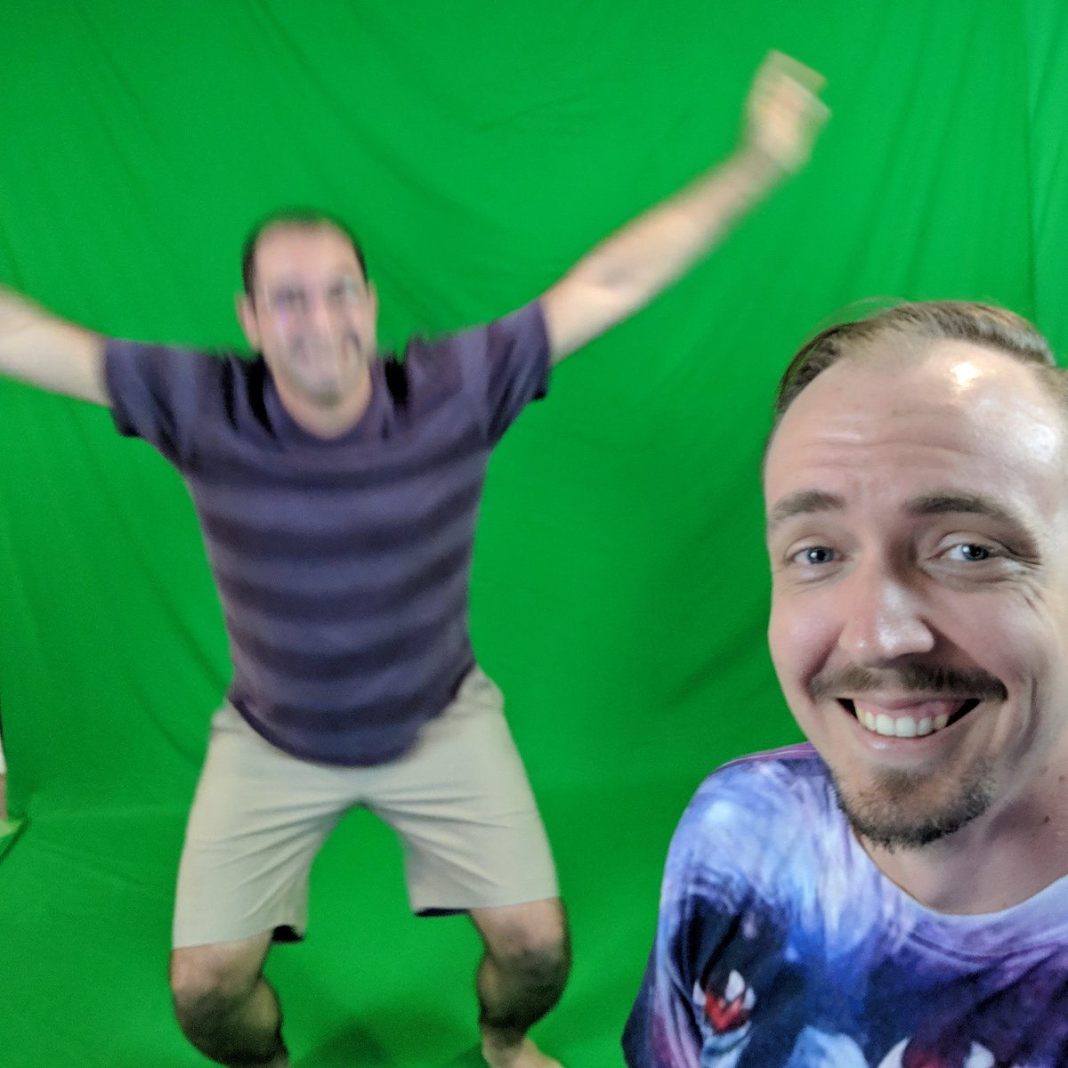 Partying with birdy boi @HeyFalcon_ tonight with some @BeatSaber in @LIV mixed reality. Live in 1 hour http://twitch.tv/TougeMonsterVR  #liv #BeatSaber #vr #virtualreality #htcvive