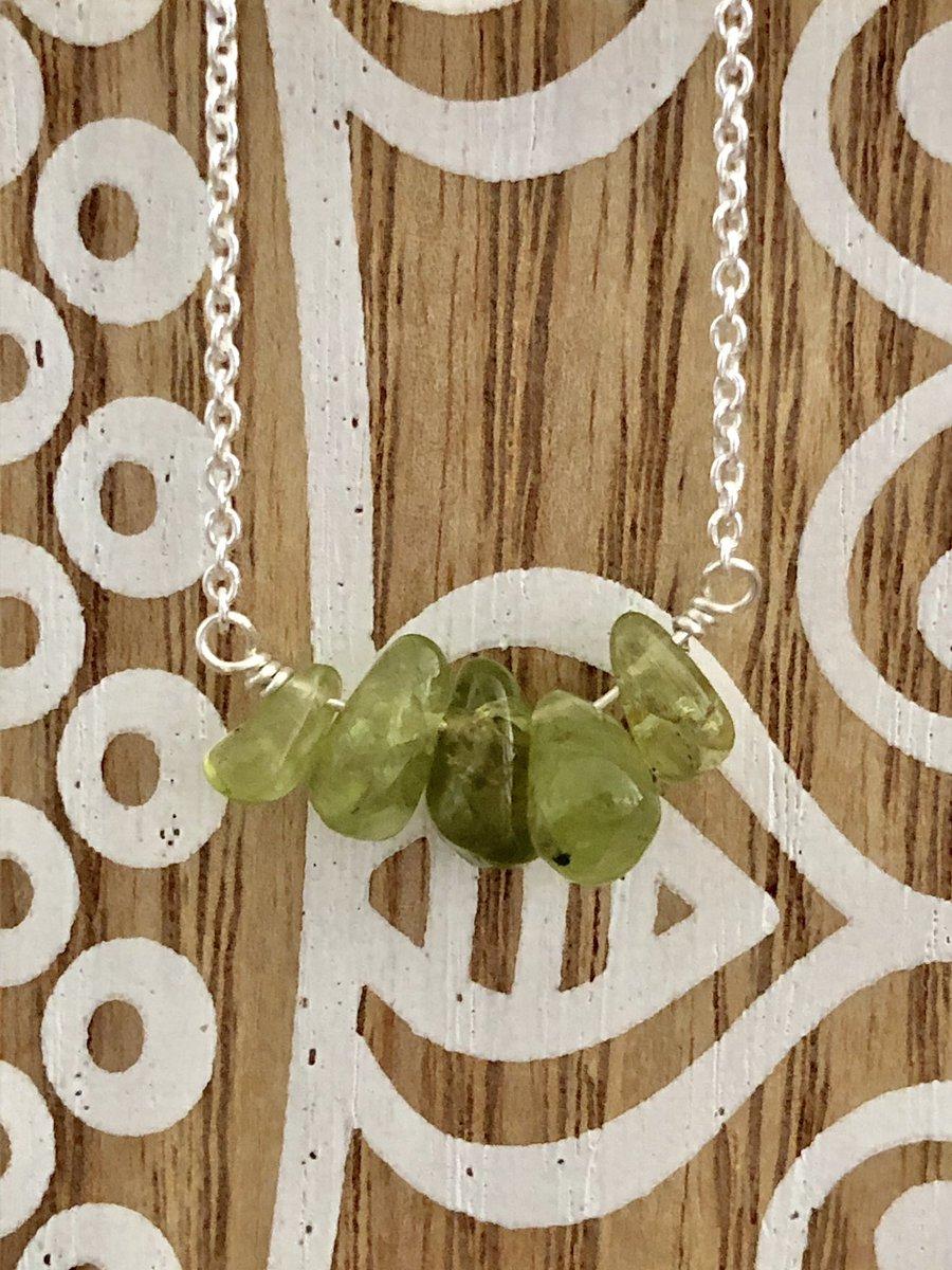 Striking green peridot necklace  https:// etsy.me/2S59s49  &nbsp;    #UKGiftHour #UKGiftAM #artisanUK #handmadegifts #etsyjewelry #giftsforher #mothersdaygift<br>http://pic.twitter.com/skF32sanUm