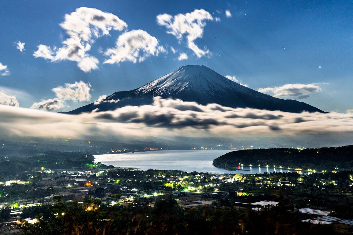 RT @RIKIphotograph: 富士山と月明かりのある光景🗻🌕 同じ月の明かりでもこれだけ色々な表現方法があります。😙  ①山中湖 ②三浦半島 ③御殿場 ④山中湖  #Nikon #富士山 #月明かり #東京カメラ部 https://t.co/M1Ua4FabTP
