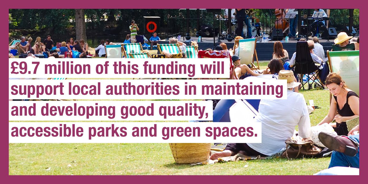 Communities Secretary @JBrokenshire champions parks with over £13m of new funding to help communities revive their children's playgrounds and transform their prized green spaces.   https://t.co/kzvXGhY38u