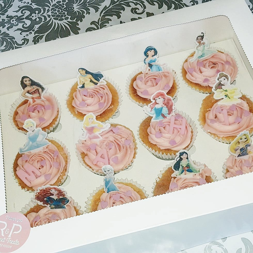 M A H I Princess Birthday Cupcakes Strawberry Milkshake Cupcakelover Princesses