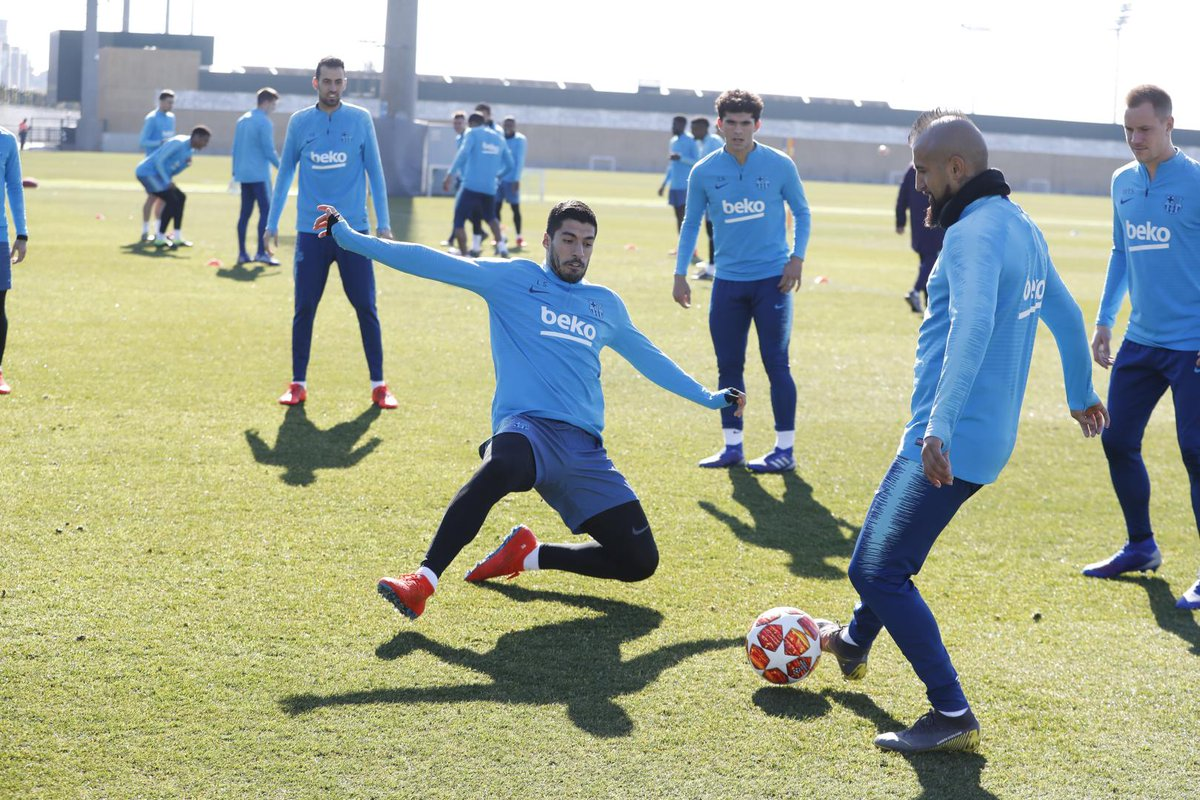 💪⚽ Looking ahead to Lyon 🔵🔴 #ForçaBarça