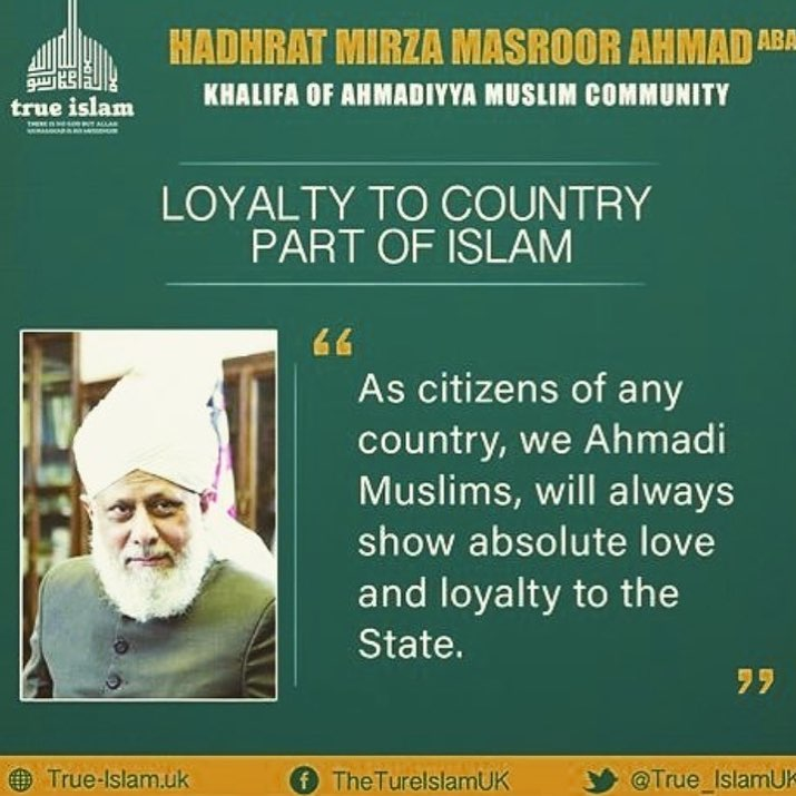 Love, affection and brotherhood will lead the world towards becoming a true haven of peace #IslamAndPatriotism  #islamAhmadiyyat