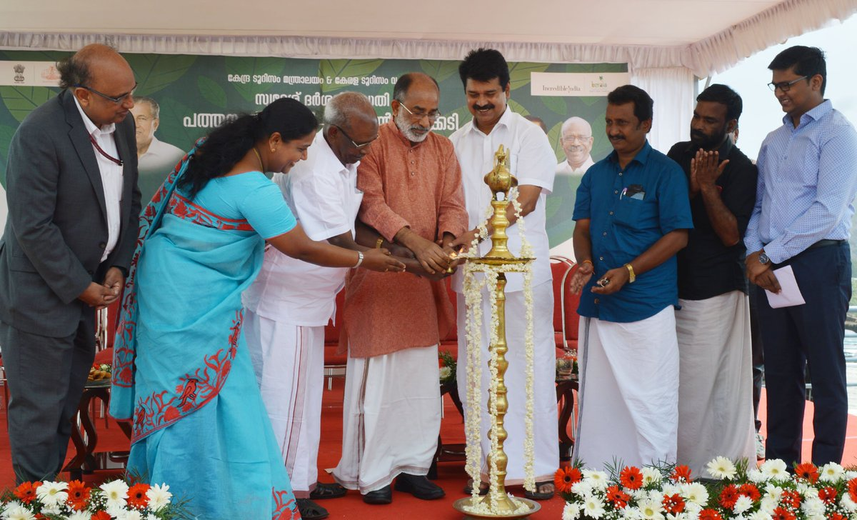 Tourism Minister @alphonstourism at the inauguration of the 'Eco Circuit: Pathanamthitta - Gavi - Vagamon - Thekkady' project, in Vagamon, Idukki, Kerala