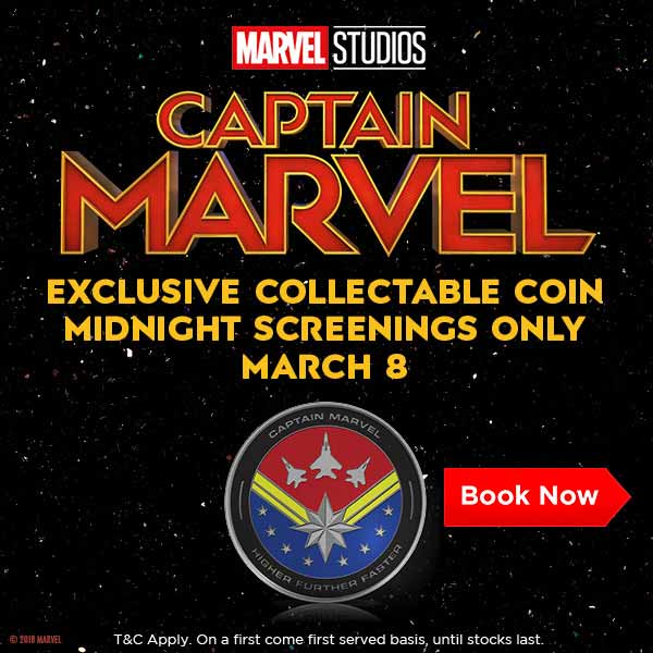 ICYMI: Thinking about coming to the midnight screening of #CaptainMarvel this March? In case you need some extra incentive, you'll get an exclusive collectable coin >> http://bit.ly/2tpxSLU