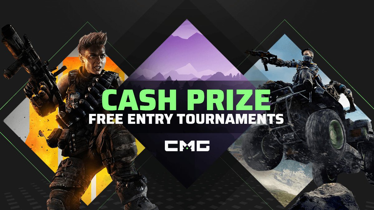 🔘http://www.CheckmateGaming.com/free-tournaments…  ▪️Free Entry tournaments all day long, every day!  ▪️Earn real cash prizes!  ▪️Play now on #Blackout, #Fortnite, and #BlackOps4 SnD!  ▪️Available on #PS4, #Xbox, & Console #Crossplay!  #CMGeSports #FreeCash #OnlineTournaments #CompetitiveGaming