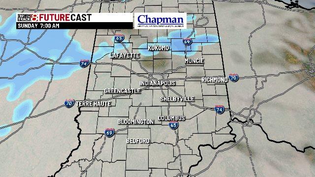 Scattered snow showers for areas north of Indy, with some light mixing of snow and freezing rain around the metro area. Not a lot, but enough for a few slick spots this morning into the afternoon.  Updated forecast in the blog here:  https:// bit.ly/2EhcbUv  &nbsp;   #INwx #daybreak8 <br>http://pic.twitter.com/1vGOhJy6ZM