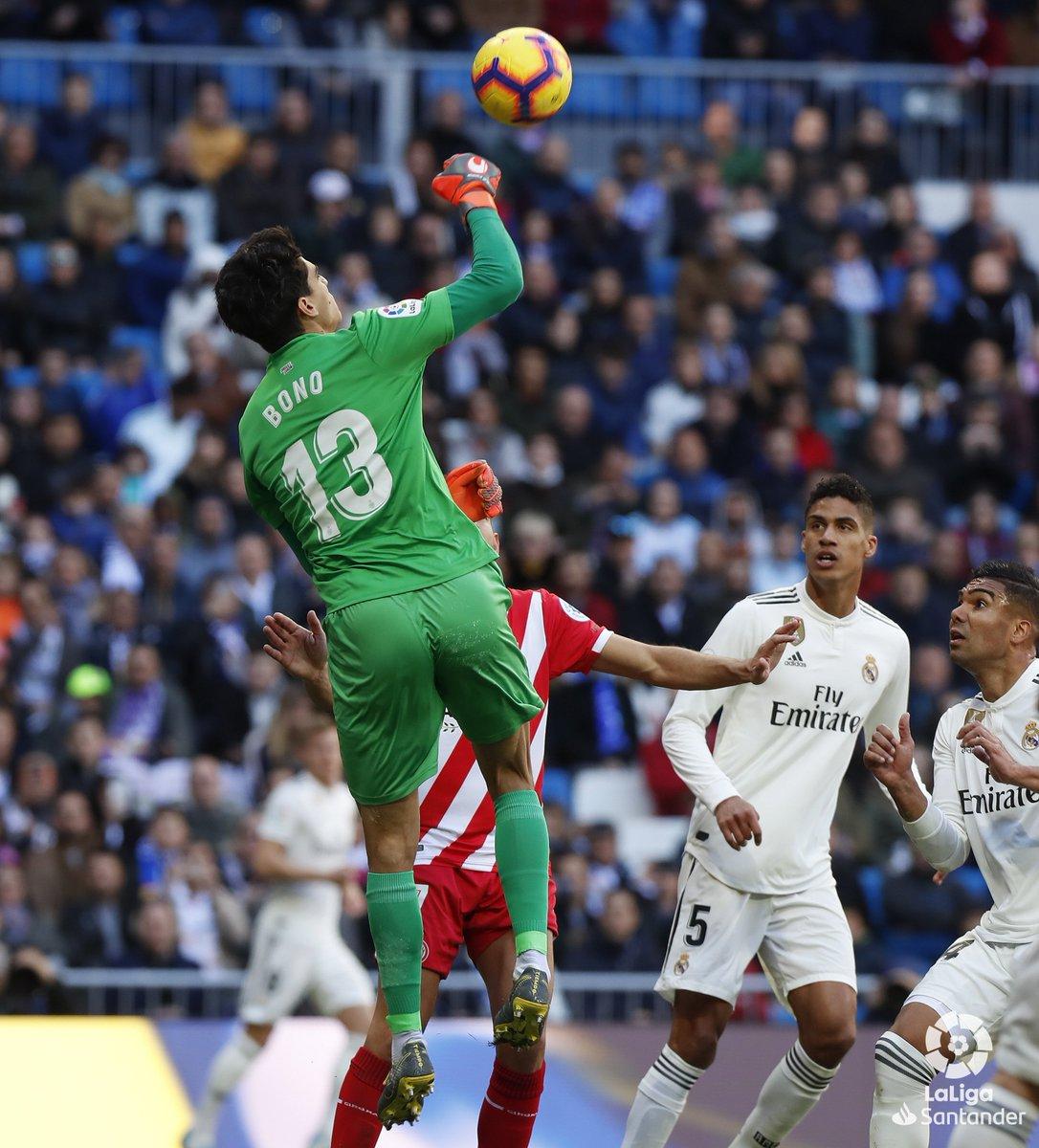 ياسين بونو @Bonoyass 👐  🔴@GironaFC 🔴  #RealMadridGirona 1-0