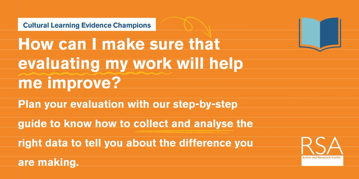 How can you make sure evaluating your work helps you improve? Plan your evaluation with our step-by-step guide for collecting the right data & interpreting it, The Cultural Learning Evidence Champion's Handbook https://t.co/cdOu1rnBYG  #cultureinschools