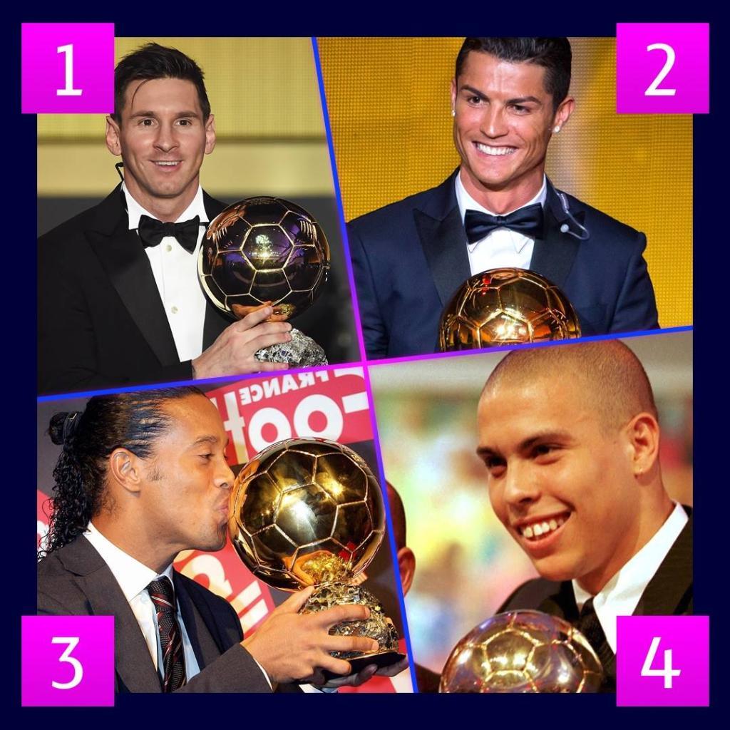 4⃣ vincitori del Pallone d'Oro 🏅 1⃣ solo non ha giocato in Italia 🇮🇹  Chi è il tuo preferito?