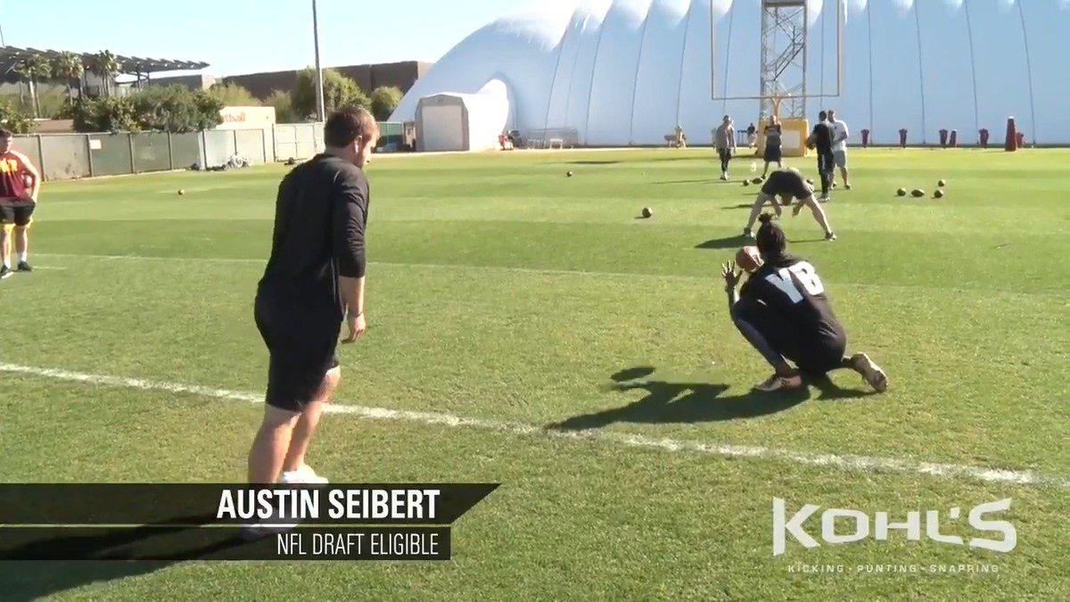 The all-time highest scoring kicker in the NCAA, Austin Seibert of @OU_Football, preps for the #NFLCombine with Coach Jamie Kohl. #KohlsElite  🎥 Full Video: https://youtu.be/jBlbk3JiHqI