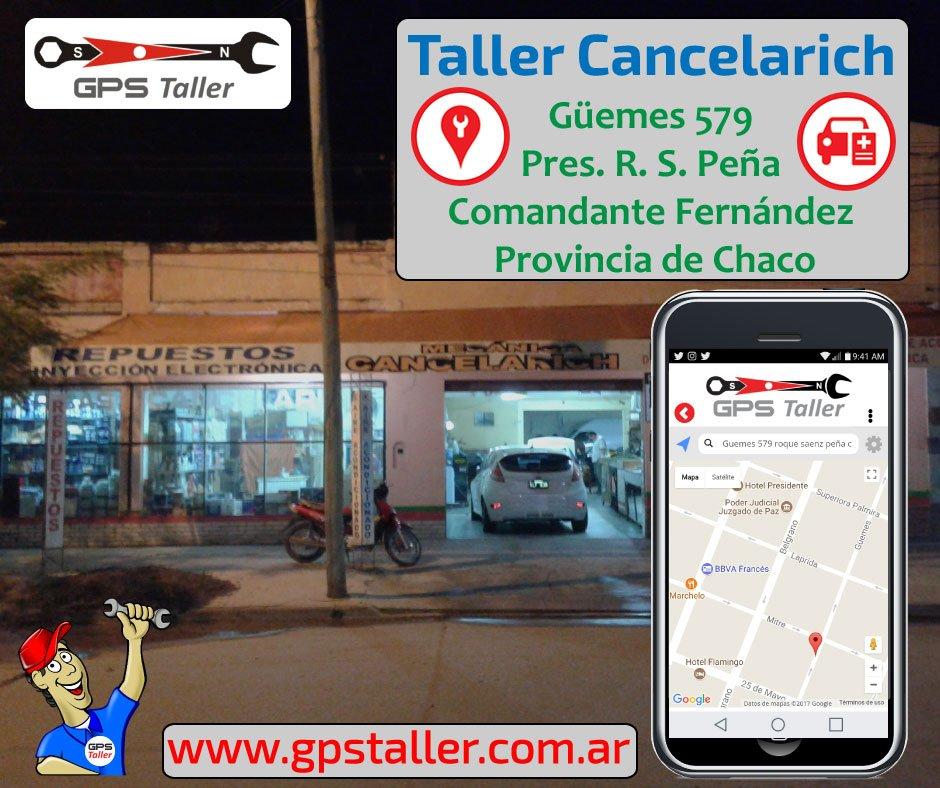 🙋 En #RoqueSáenzPeña #Chaco Cancelarich t brinda el mejor servicio Registrate gratis en http://bit.ly/1M7cueY Bajá App p 📱@Android en http://bit.ly/1Us8lZP y ubicá al #Taller d tu zona @GPStaller está c vos en toda 🇦🇷Argentina #autos #BuenViaje 💻📱⛽⚠🚦🚛🚚🚍🚙🚘😄