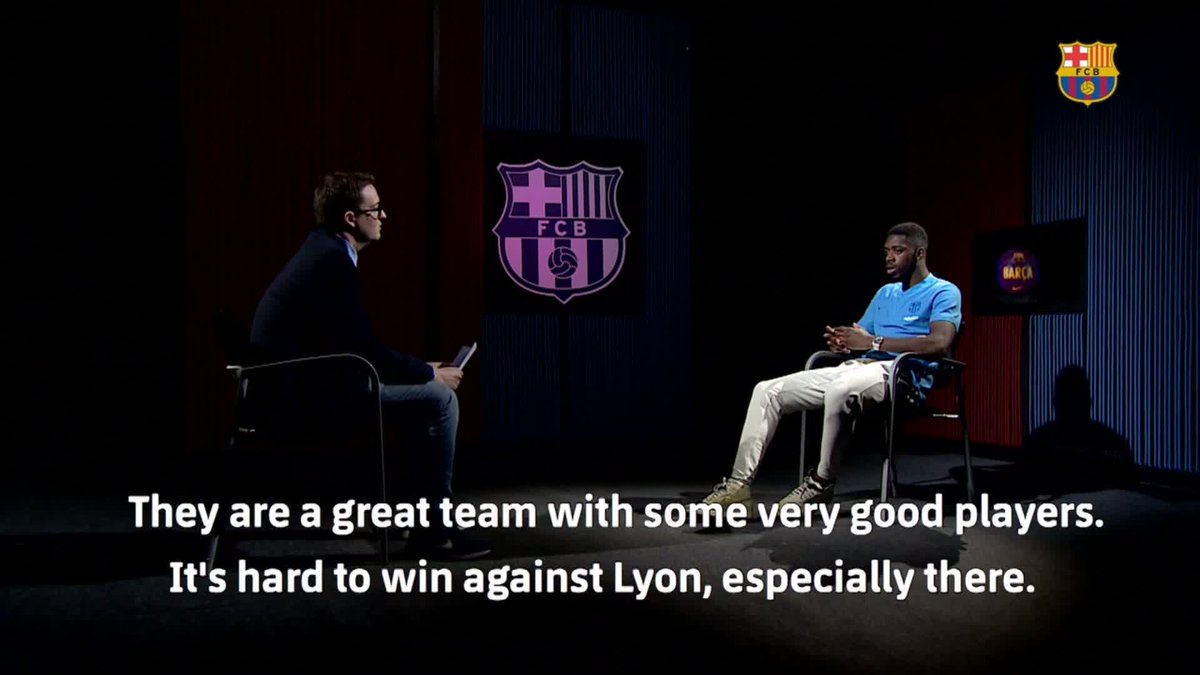 🔊 @Dembouz talks about #UCL and #OLBarça 🎥 The complete interview, here ▶ http://ow.ly/3yle50lBN1r 🔵🔴 # ForçaBarça