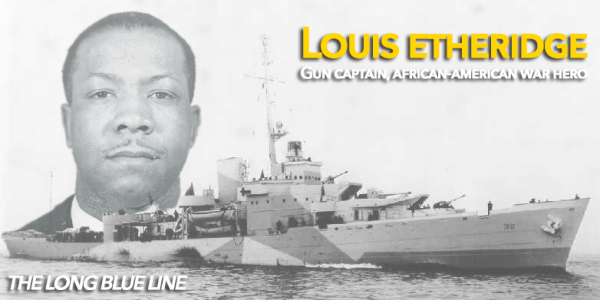 Chief Steward Louis Etheridge commanded an 11-man African-American gun crew during a 1944 fight between #USCG Cutter Campbell and a German submarine. He became the first African-American Coast Guardsman for to receive a medal for combat heroism. Story: http://goo.gl/YhGMXG