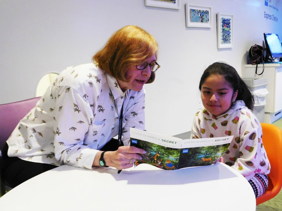 """Today is #RandomActsOfKindness Day! Living with lupus can be confusing & challenging, especially for a young child. That's why HSS volunteer Judy Campbell wrote the book, """"Chita Shares a Secret,"""" to give courage to children coping & living with this chronic condition. #HSSKids"""