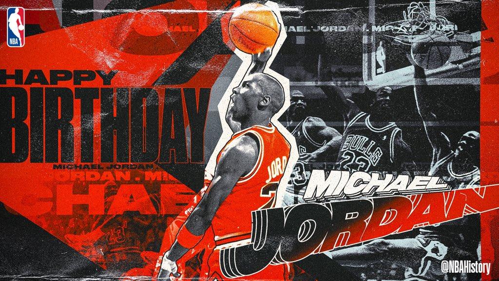 🐐🐐🐐🐐🐐🐐 RT @NBAHistory: Join us in wishing a Happy 56th Birthday to 5x @NBA MVP, 6x NBA champion, 6x #NBAFinals MVP & 14x #NBAAllStar... Michael Jordan! #NBABDAY