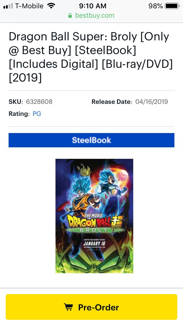 Dragon Ball Super Broly News Dbsbrolynews Twitter