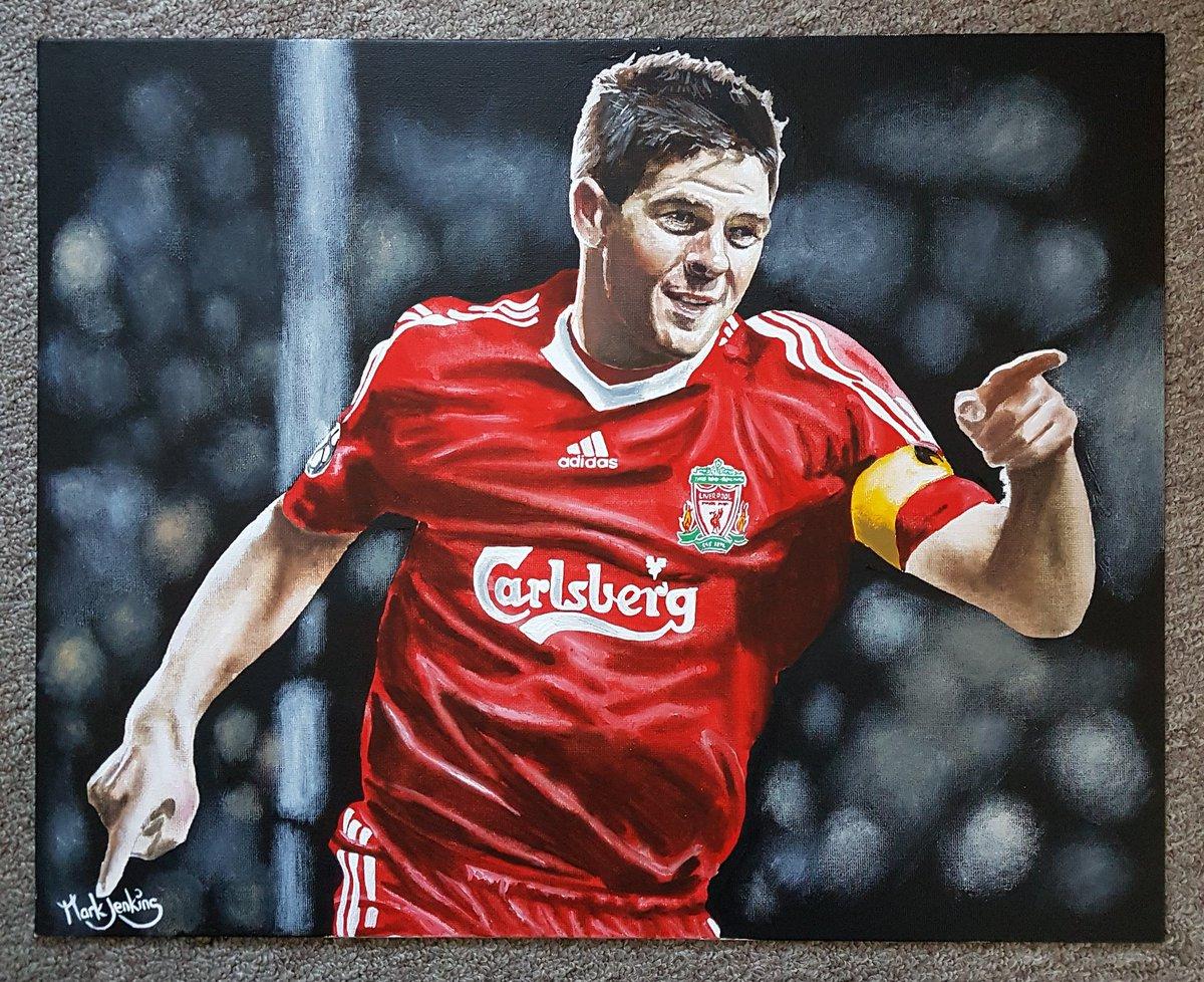 Steven Gerrard acrylic on canvas board 20x16 inches @LFC @LFCRetail #LFC #Liverpoolfc #YNWA