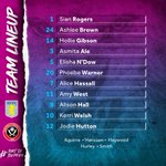 The Pride 🦁Ale, @Phoebe_Warner4 and @jodie_hutton are into the starting XI while @Aoife_Hurleyy makes a welcome return to the squad.#PartOfThePride #UTV #AVFC