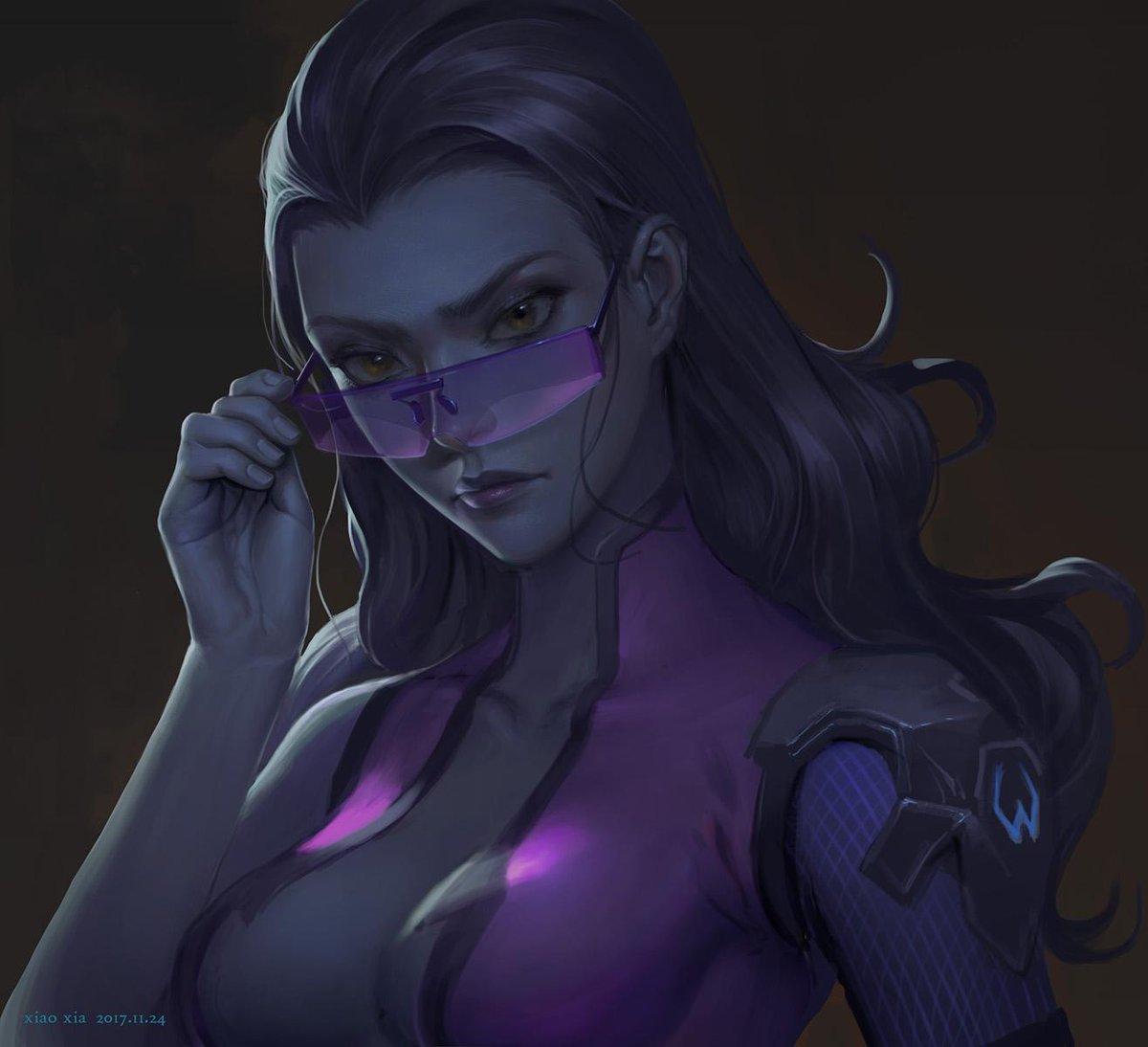 Artwork by 暴走小虾 http://goo.gl/rhMb3L #Widowmaker #Overwatch